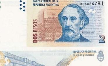 ANUNCIO BILLETES DE DOS PESOS.
