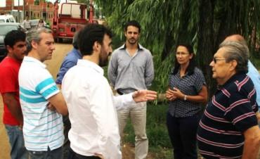 Funcionarios y técnicos de la Nación y Provincia recorrieron terrenos en El Brillante