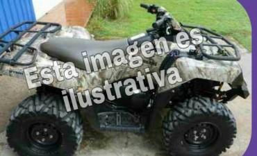 SECUESTRAN CUATRICICLO Y MOTO.