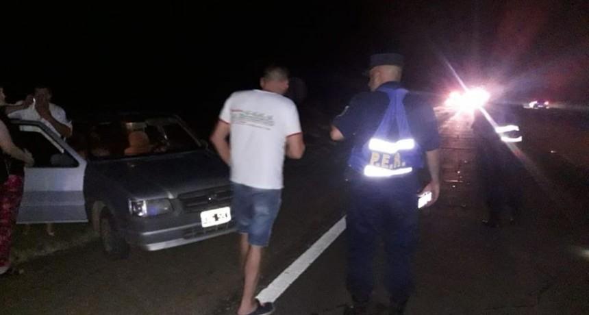ACCIDENTE AUTOMOVILÍSTICO EN RUTA 140 KM 13.