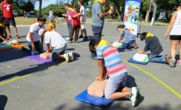 Se realizó el Curso de RCP en el Parque Quirós