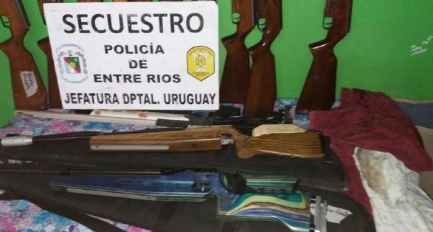 RECUPERARON ARMAS SUSTRAÍDAS EN EL TIRO.