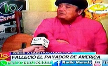 FALLECIO RECONOCIDO PAYADOR GUSTAVO GUICHON.