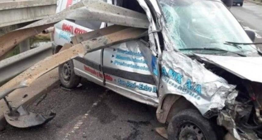 ACCIDENTE EN AUTOVÍA ARTIGAS.