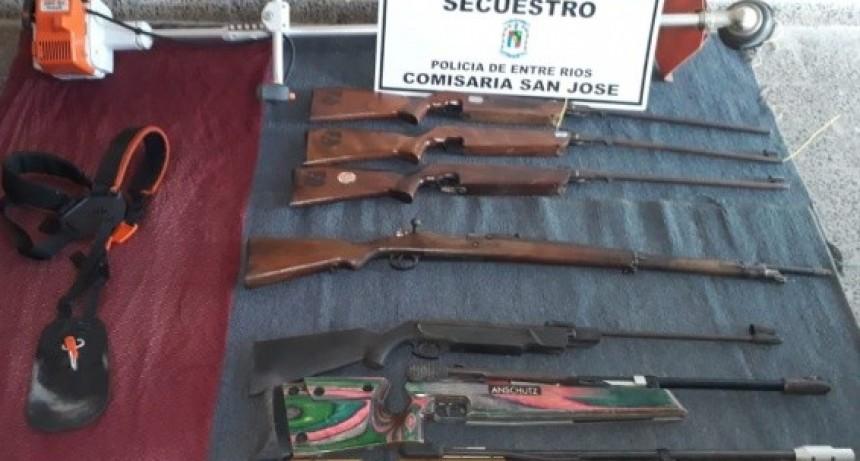 RECUPERARON TOTALIDAD DE ARMAS DEL TIRO.