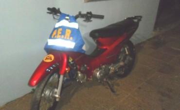 MOTO ADULTERADA EN SAN JOSE.