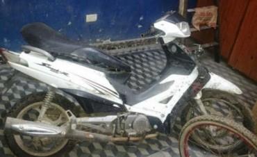 RECUPERAN MOTO SUSTRAIDA EN CONCEPCION DEL URUGUAY.