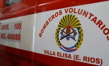 VILLA ELISA: BOMBEROS ELISENSES ACTIVOS DURANTE EL FIN DE SEMANA: