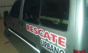 BOMBEROS TRABAJO UNIDAD DE RESCATE.