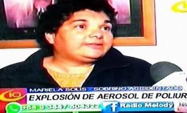 VILLA ELISA NIÑO DE DOCE AÑOS SE LASTIMO CON TUBO AEROSOL.