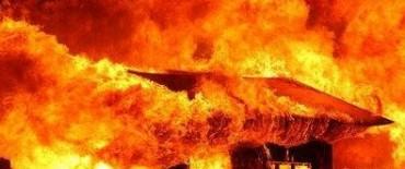 Villa Elisa , Incendio y tragica muerte hoy por la noche